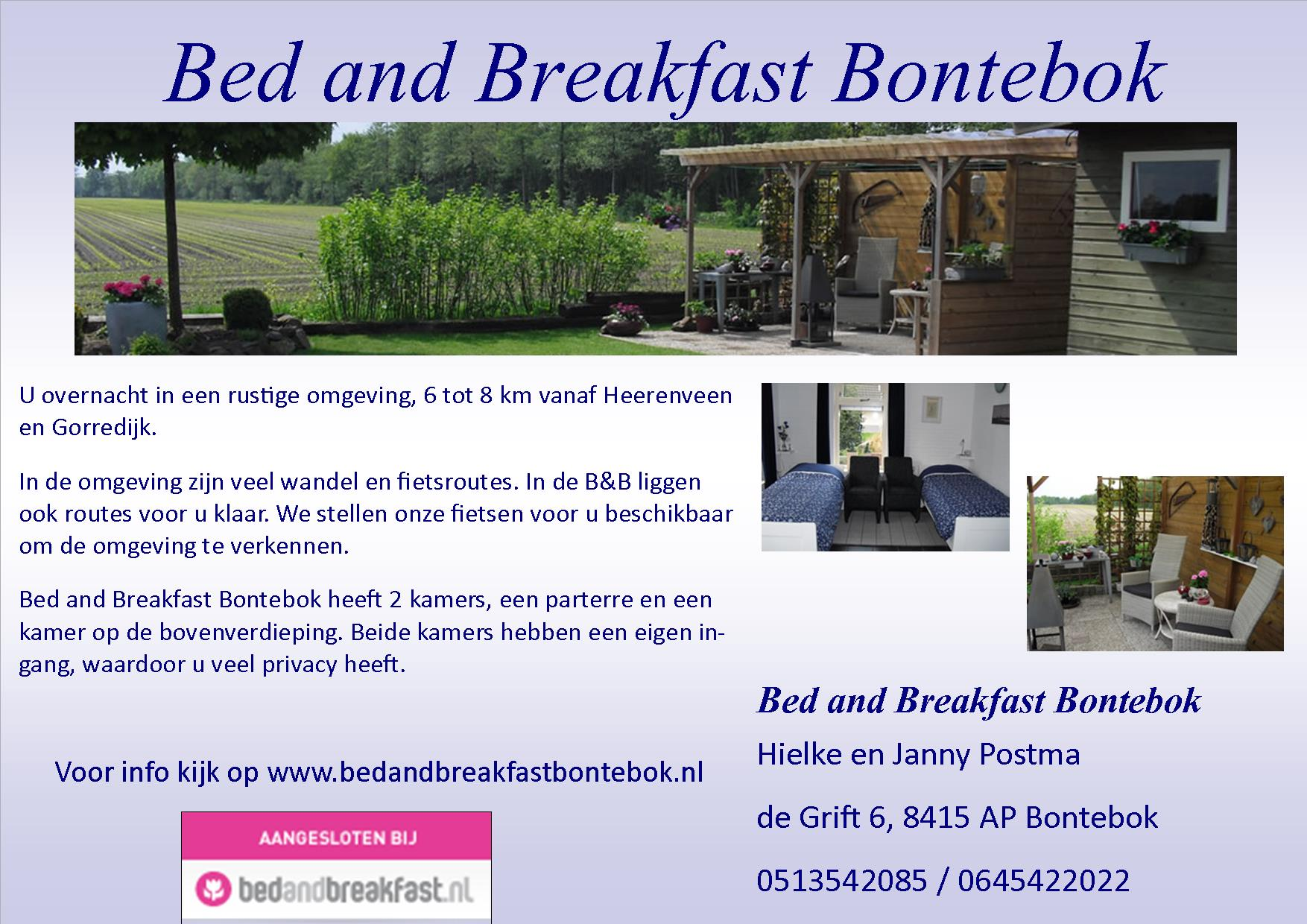 bed and breakfast bontebok