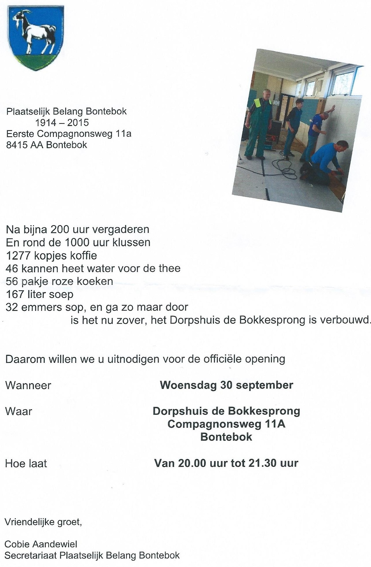 dorpshuis opening 30 sep