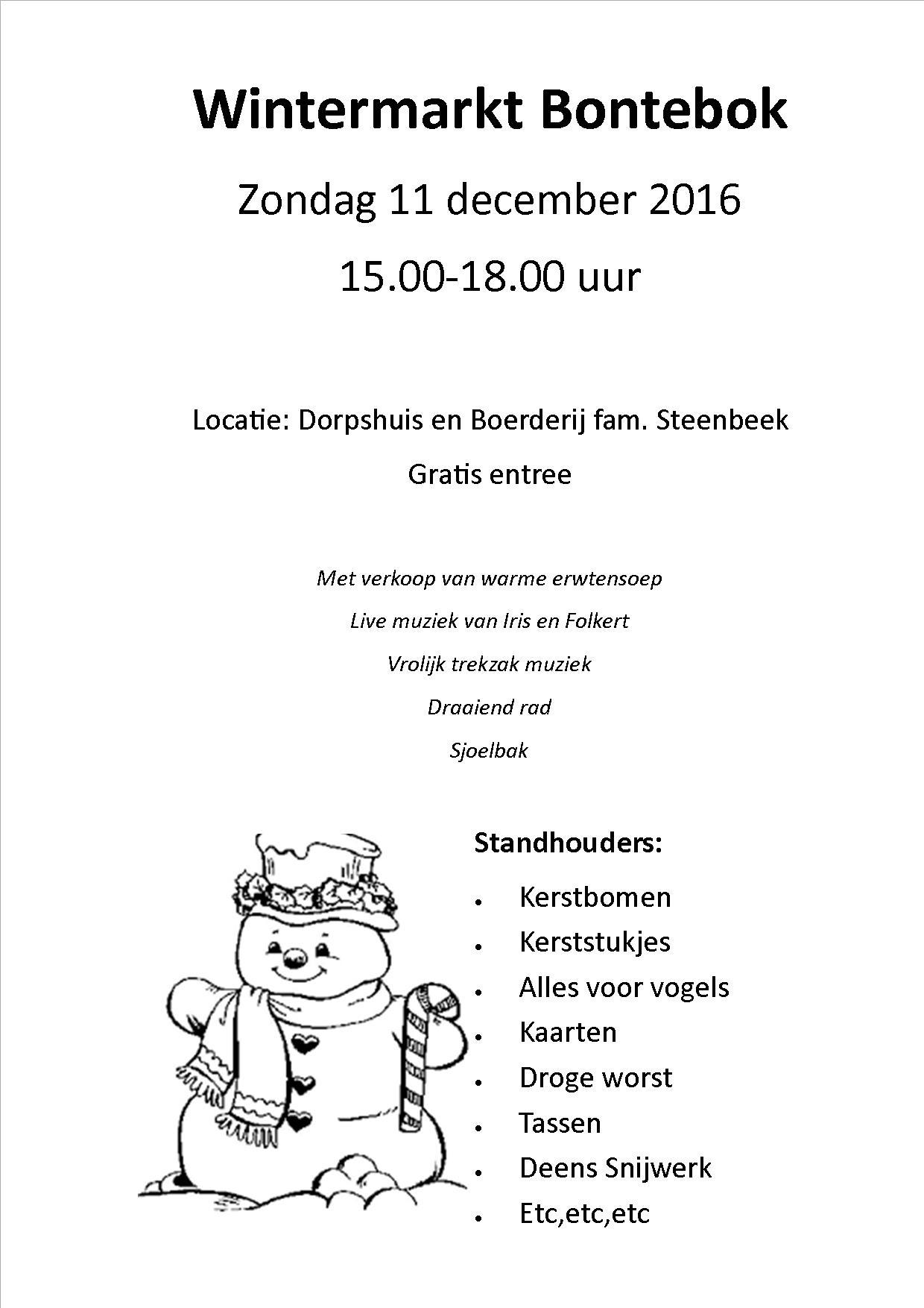 wintermarkt Bontebok 2016