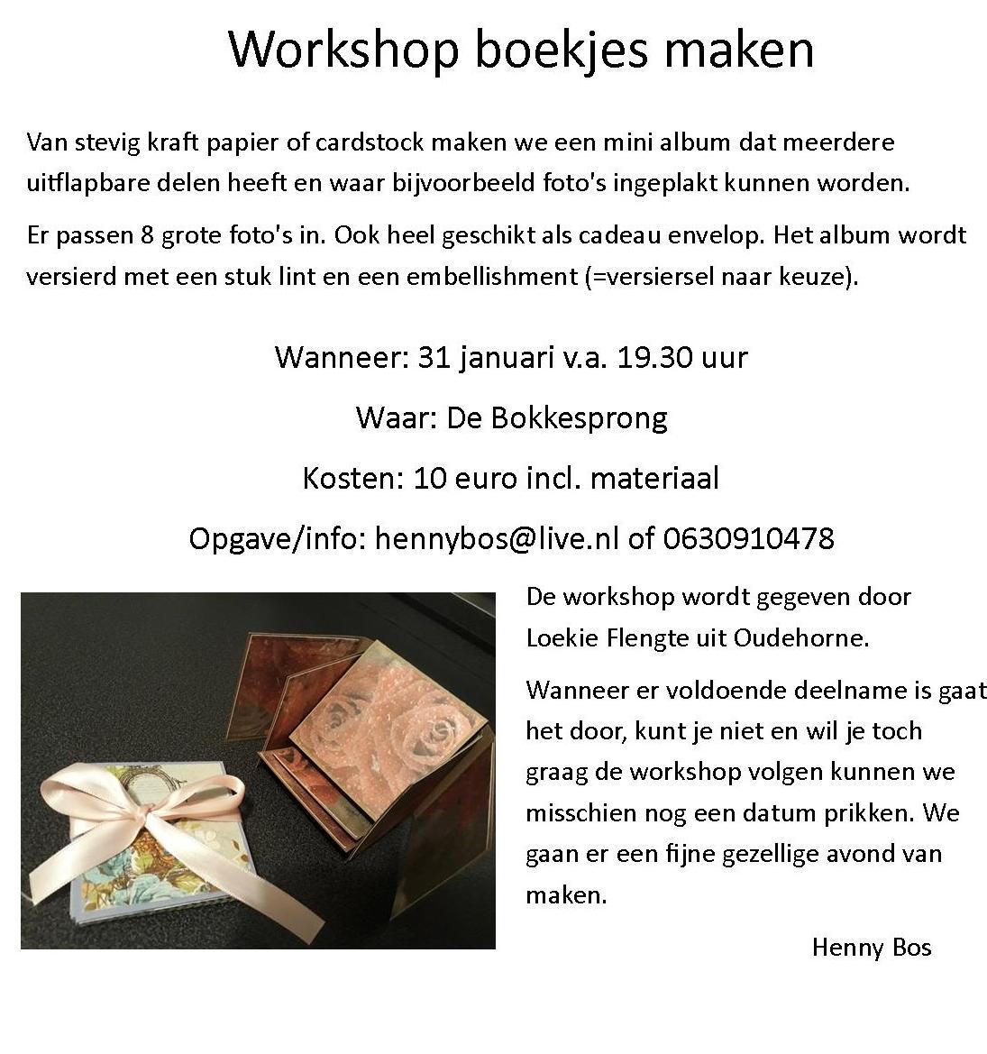 workshop boekjes maken
